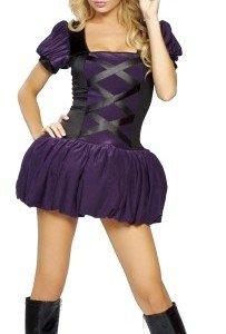 K19 Costum Halloween vrajitoare sexi - Vrajitoare - Vampir - Haine > Haine Femei > Costume Tematice > Vrajitoare - Vampir