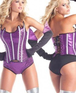 K253-10 Costum animatie - corset cu paiete si boxeri - Costume Animatie - Haine > Haine Femei > Costume Animatie