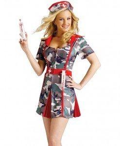 K264 Costum army asistenta medicala - Asistenta Medicala - Haine > Haine Femei > Costume Tematice > Asistenta Medicala