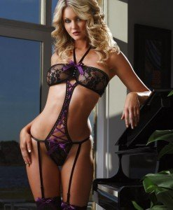 K50-11 Lenjerie intima body cu dantela si fundite - Lenjerie body - Haine > Haine Femei > Lenjerie intima > Lenjerie body