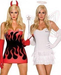 L10 Costum Halloween inger si demon - Inger & Dracusor - Haine > Haine Femei > Costume Tematice > Inger & Dracusor