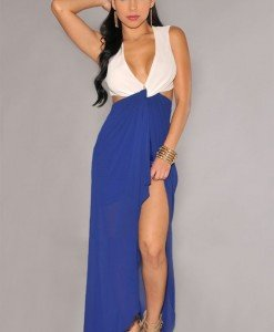 L363-4 Rochie lunga sexy