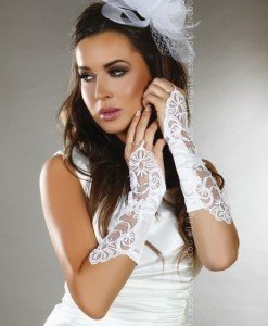 Livia Corsetti 263-2 Manusi elegante pentru mireasa - Manusi dama - Haine > Haine Femei > Ciorapi si manusi > Manusi dama