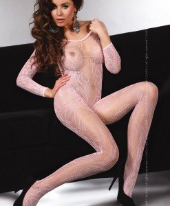 Livia Corsetti 52-5 Bodystocking cu plasa si maneci lungi - Bodystockings