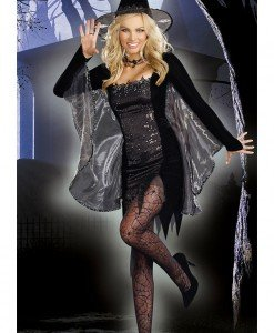 N221 Costum Halloween vrajitoare - Vrajitoare - Vampir - Haine > Haine Femei > Costume Tematice > Vrajitoare - Vampir
