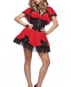 N312-3 Costum Halloween Scufita Rosie - Basme si Legende - Haine > Haine Femei > Costume Tematice > Basme si Legende