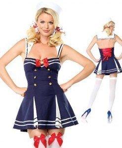 N36 Costum tematic marinar - Armata - Marinar - Haine > Haine Femei > Costume Tematice > Armata - Marinar