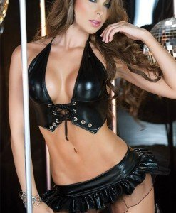 P126 Costum animatie top si fusta latex - Altele - Haine > Haine Femei > Costume latex si PVC > Altele