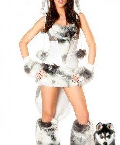 P99 Costum tematic caine husky - Animalute - Haine > Haine Femei > Costume Tematice > Animalute