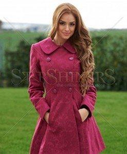 Palton LaDonna Be Elegant Fuchsia - Paltoane -
