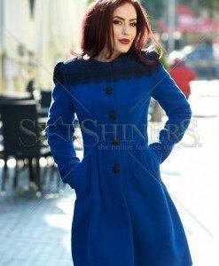 Palton LaDonna Fresh Winter Blue - Paltoane -