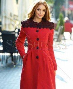 Palton LaDonna Fresh Winter Red - Paltoane -