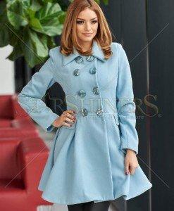 Palton MissQ Eternal Vision Blue - Paltoane -
