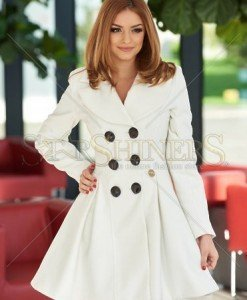 Palton MissQ Warmish Feeling White - Paltoane -