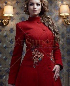 Palton StarShinerS Brodat Rose Mystery Red - Paltoane -