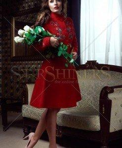 Palton StarShinerS Brodat Rose Spirit Red - Paltoane -