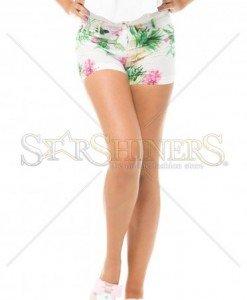 Pantaloni Scurti PrettyGirl Nature White - Pantaloni scurti -