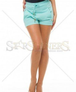 Pantaloni Scurti PrettyGirl Sunny Turquoise - Pantaloni scurti -