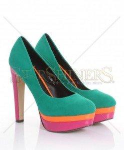 Pantofi Colour Love Green - Pantofi -