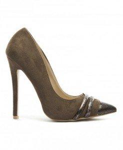 Pantofi Femin Khaki - Pantofi - Pantofi