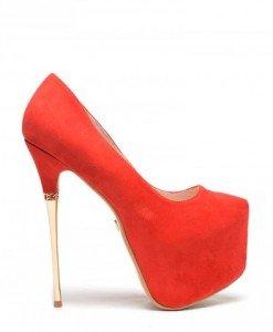 Pantofi Sculpturo Rosii - Pantofi - Pantofi