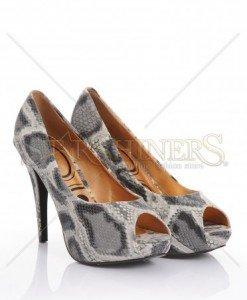 Pantofi SnakePrint Grey - Pantofi -