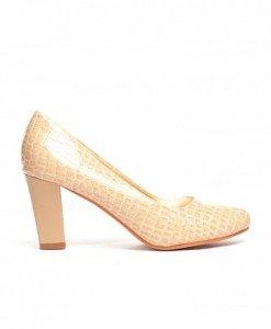 Pantofi Vols Bej Croco - Pantofi - Pantofi