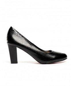 Pantofi Vols Negri Croco - Pantofi - Pantofi