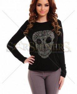 Pulover PrettyGirl Scary Black - Pulovere -