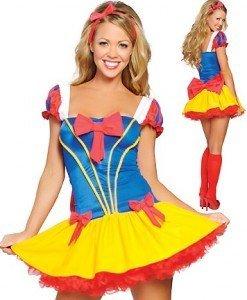Q134-A Costumatie carnaval Alba ca Zapada - Basme si Legende - Haine > Haine Femei > Costume Tematice > Basme si Legende
