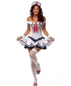Q246 Costum Tematic Marinar - Armata - Marinar - Haine > Haine Femei > Costume Tematice > Armata - Marinar