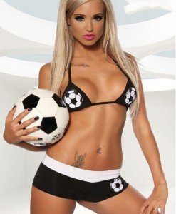 Q269 Costum tematic sport fotbal - Sport - Racing - Haine > Haine Femei > Costume Tematice > Sport - Racing