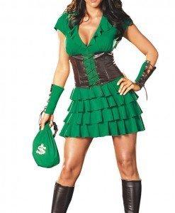 Q312 Costum Halloween Robin Hood - Basme si Legende - Haine > Haine Femei > Costume Tematice > Basme si Legende