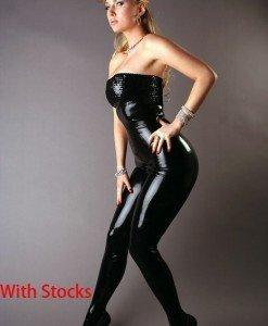 R140 Salopeta Latex - Salopete - Haine > Haine Femei > Costume latex si PVC > Salopete