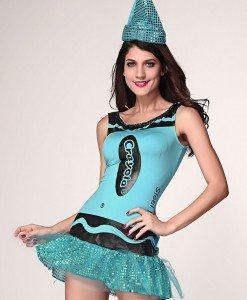 R305-4 Costum tematic Halloween crayola - Altele - Haine > Haine Femei > Costume Tematice > Altele