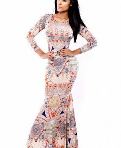 R332 Rochie lunga tip sirena