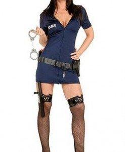 R69 Costum Halloween politista - Politista - Gangster - Haine > Haine Femei > Costume Tematice > Politista - Gangster