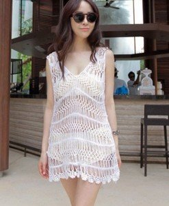 RV146-2 Rochie brodata pentru vara - Costume de plaja - Haine > Haine Femei > Costume de baie > Costume de plaja