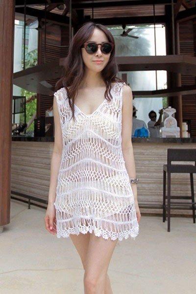 RV146-2 Rochie brodata pentru vara – Costume de plaja – Haine > Haine Femei > Costume de baie > Costume de plaja