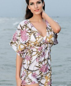 RV73 Rochie de plaja cu model - Rochii de vara - Haine > Haine Femei > Rochii Femei > Rochii de vara