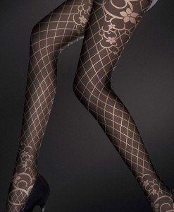 STK123-1 Ciorapi lungi eleganti cu model vintage - Ciorapi dama - Haine > Haine Femei > Ciorapi si manusi > Ciorapi dama