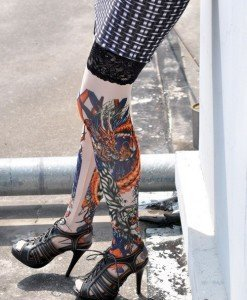 STK13 Ciorapi cu Tatuaj - Ciorapi cu tatuaj - Haine > Haine Femei > Ciorapi si manusi > Ciorapi cu tatuaj