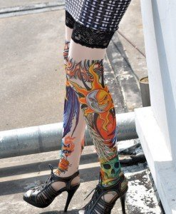 STK16 Ciorapi cu Tatuaj - Ciorapi cu tatuaj - Haine > Haine Femei > Ciorapi si manusi > Ciorapi cu tatuaj