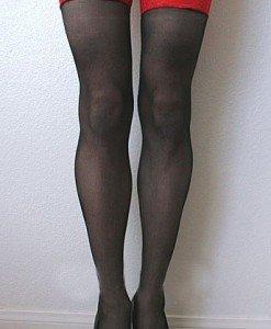 STK24 Ciorapi cu dantela in partea superioara - Ciorapi dama - Haine > Haine Femei > Ciorapi si manusi > Ciorapi dama