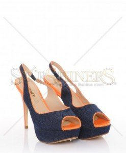 Sandale Denim Look Orange - Incaltaminte -