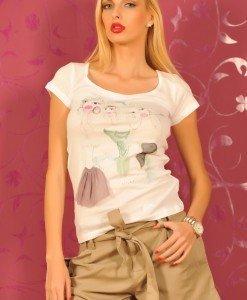 SiS55 Tricou Lung cu Imprimeu - Sisley - Haine > Brands > Sisley