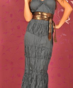 SiS62 Rochie Lunga Creponata - Sisley - Haine > Brands > Sisley