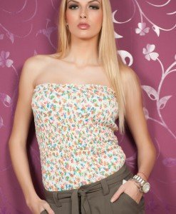 TW62 - Top Sexi Floral Femei - TALLY WEiJL - Haine > Brands > TALLY WEiJL