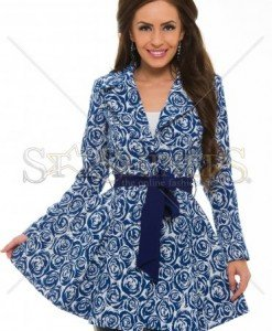 Trench Artista Royal Roses DarkBlue - Trenciuri -