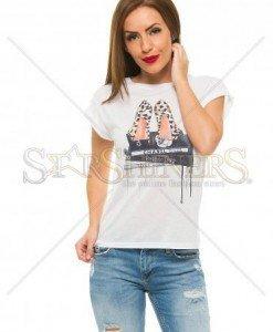 Tricou Ana Radu Fashion Addict Cream - Tricouri -